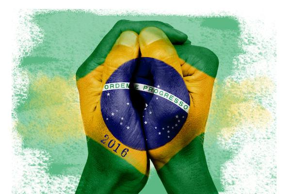 ブラジルの国旗を表したペイント画像